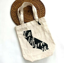 California Canvas Shopper Tote Lunch Bag Reusable Farmers Market Groceries Bag