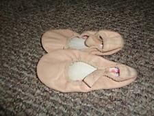 Capezio Girls Pink Leather Dance Ballet Shoes Sz 10M