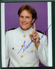 BRUCE JENNER SIGNED 8X10 PHOTO IN MILITARY UNIFORM SKATING WITH CELEBRITIES