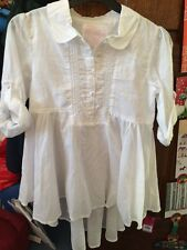 BNWT GORGEOUS WHITE TUNIC TOP FROM PRIMARK AGE 11-12Yrs