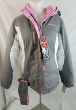 Girls/ Teens Zero Xposur Snow Board Jacket size XL( (16) M Pink and Heather Grey