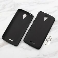 FUNDA DE TPU GEL SILICONA GOMA PARA MOVIL ZTE BLADE A310 COLOR NEGRA NEGRO LISA