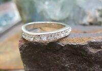aparter designer ring silber mit brillant similis 17 mm v juwelier neuw