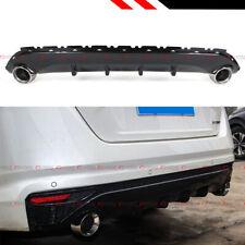 FOR 19-2020 Nissan Altima Gloss Blk Shark Fin Rear Bumper Diffuser + Exhaust Tip