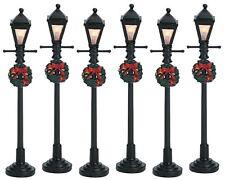 Lemax Decoración linterna gas farola de calle Navidad iluminado set 6