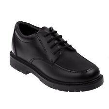Academie Boys Gear Big Kids' Dean Moc Toe Shoe Black 4 Wide #NNXAU-M498