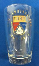 Ford 50th Anniversary Drinking  Glass 1903-1953 Dearborn Stamping Plant-5 inch