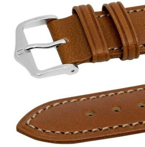 Hirsch KENT leather watch strap 16mm GOLD BROWN TAN