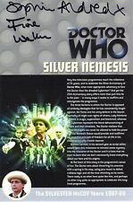 More details for doctor who: silver nemesis dvd insert signed (various autograph options)