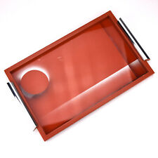 Rare German Bauhaus Suprematism Reverse Painted Glass Martini / Cocktail Tray