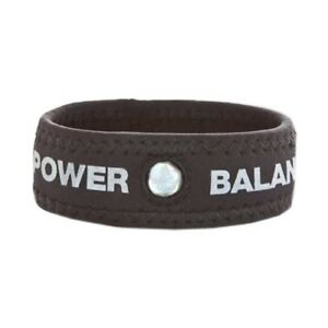 POWER BALANCE NEOPRENE WRISTBAND/BRACELET BLACK/SILVER LETTERS SMALL