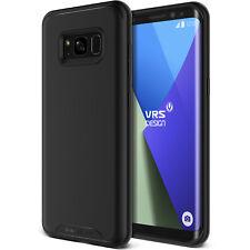 For Galaxy S8/S8 Plus Case VRS® [Single Fit] Slim Soft Light Rubber Black Cover