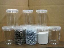 10 Clear  Plastic Jars  4-3/4 X 3-1/4   .015  L@@K NEW