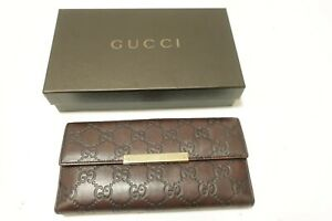 Authentic GUCCI GG  Guccissima  Leather Wallet  #10082