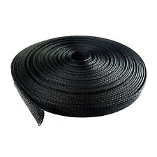 "100 Feet 3/4"" Expandable Wire Cable Sleeving Sheathing Braided Loom Tubing Black"