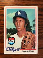 1978 Topps #310 Don Sutton Baseball Card HOF LA Dodgers NL All Star Raw