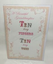 A Beautiful Granddaughter Ten Tiny Fingers Ten Tiny Toes. Greeting Card
