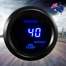 "NEW BLACK 2"" 52mm BLUE DIGITAL LED OIL TEMPERATURE TEMP GAUGE FOR CAR MOTOR AU"