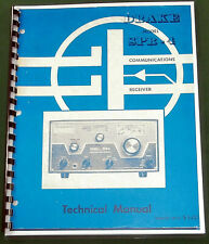 """Drake Spr-4 Technical Manual: w/11""""X17"""" Schematic & Protective Covers!"""