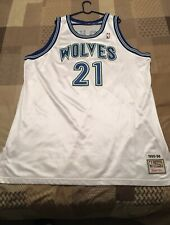 White Kevin Garnett Authentic Basketball Jersey Size 60
