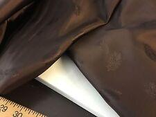 "NEW Beautiful Brown Leaf Jacquard Silk Lining Fabric 55""141cm High Class Garment"