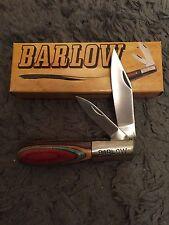 "Trapper BARLOW 3 1/2"" Double TWO BLADE FOLDING KNIFE 202980 COLORWOOD HANDLE NIB"