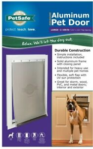 PetSafe PPA00-10861 Aluminum Pet Door for Dogs and Cats - White