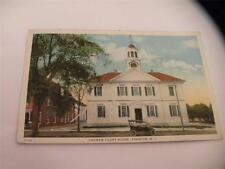 VINTAGE WHITE BORDER 1949 CHOWAN COURT HOUSE EDENTON NC POSTCARD