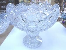 American Brilliant Deep Cut Glass Centerpiece 20 Pounds FREE SHIPPING