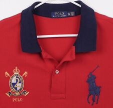Polo Ralph Lauren Men's Sz 3XLT Big Pony Embroidered Crest Red Navy Blue Shirt