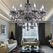 Genuine K9 Crystal Chandelier SMOKY 2,6,8,10,8+4 Arms Pendant Light Candle