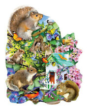 Jigsaw Puzzle Animal Something Squirrelly freeform 1000 piece NEW Made in USA