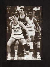 Navy Midshipmen--1987-88 Basketball Pocket Schedule--WNAV