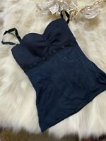 Tezenis black padded underwired Camisole Top sleepwear nightwear size S cup B