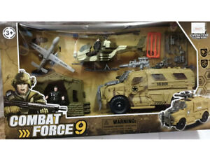 Military Combat Force 9 Playset - Pack of 6 BIG FIGURES Operation Storm wind UK