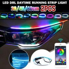 2Pcs Flexibel LED Streifen Scheinwerfer DRL Tageszeit Laufen Lichtleiste