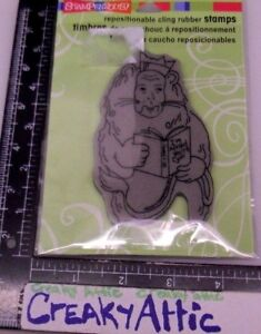 LION READER WIZARD OF OZ CLING RUBBER STAMP STAMPENDOUS CRP200