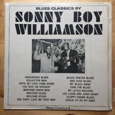 Sonny Boy Williamson- NM LP 1937-44 Blues Classics #3 IN SHRINK