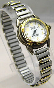 GUESS WATER PRO Watch Expander Band Small White Face 50m WR Analog WORKS