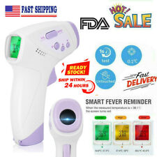 Non Contact Digital IR Infrared Forehead Thermometer Adult Kids Temperature US I