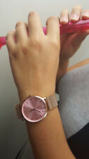 Noblag Flame luxury women's Watch rose gold stainless steel mesh bracelet-Pink