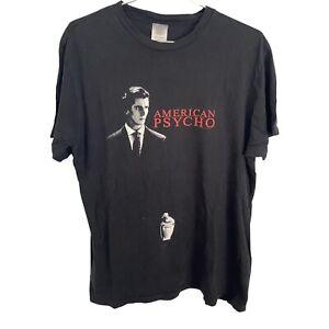 Vtg American Psycho Movie T Shirt 2005 Christian Bale Large