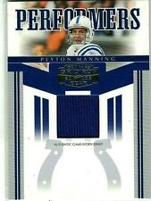 PEYTON MANNING 2006 DONRUSS GRIDIRON GEAR PERFORMERS GAME USED JERSEY#/100