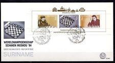 Suriname - 1984 Chess championship - Mi. Bl. 38 Clean unaddressed FDC!