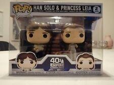 Han Solo & Princess Leia 2-Pack Funko! POP-Star Wars 40th ANNIVERSARY