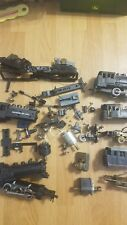BRASS, DIECAST, AND PLASTIC PARTS/RESTORATION LOT OF HO SCALE LOCOMOTIVES