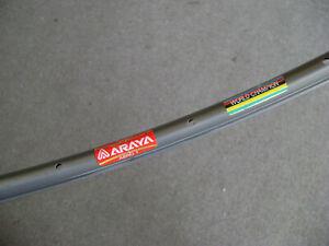One (1) used Araya ADX-1 AERO SuperHard Anodized 20-hole 700c tubular rim