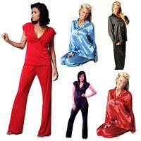 Tops+Long Pants Pajama Set Soft Sleepwear Nightwear For Womens
