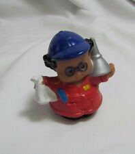 Fisher Price Little People AUTO MECHANIC RED COVERALLS Funnel Rag Blue Hat 2006