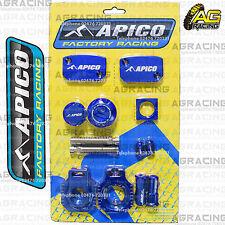 Apico Bling Pack Blue Blocks Caps Plugs Clamp Covers For Husaberg FE 450 09-14